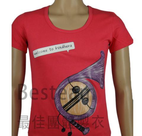 BesTeam訂製的女裝燙印T恤款式時尚,正面燙印T恤