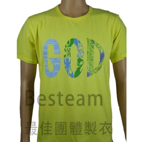 BesTeam訂製的彩色燙印T恤款式時尚,正面燙印T恤