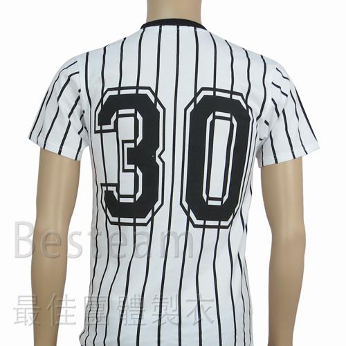 訂製款單色絲印T恤,T恤反面