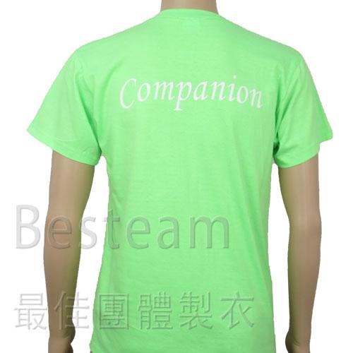 彩色絲印 經濟款T恤背面