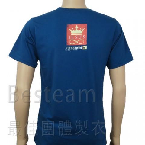 彩色絲印 訂製款T恤背面