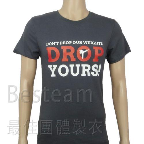 彩色絲印 訂製款T恤正面